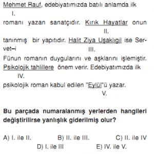 Ygs Lys Hazırlık Edebiyat Serveti Fünun Edebiyatı çözümlü Testi