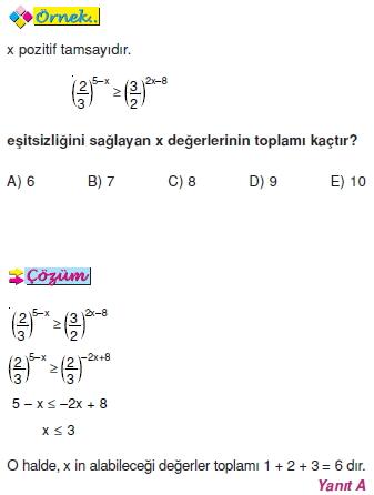Matematik 1 ygs konu anlatımı ve konu testine geri dön