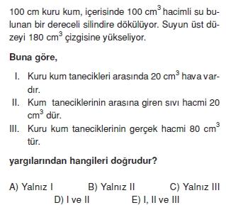 Madde ve Özellikleri çözümlü test 1004