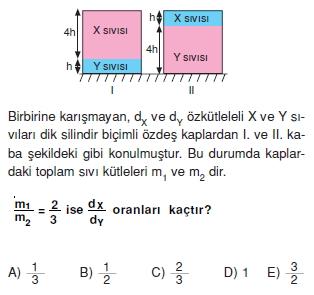 Madde ve Özellikleri çözümlü test 1007