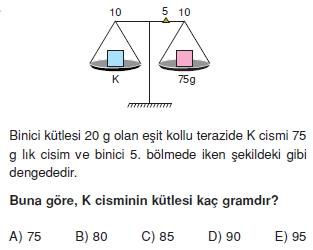 Madde ve Özellikleri çözümlü test 1011