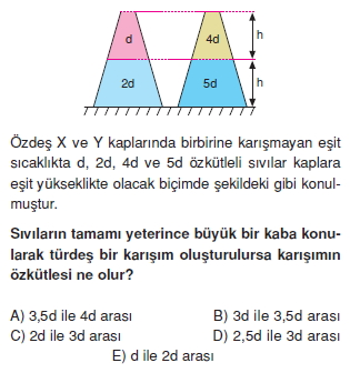Madde ve Özellikleri çözümlü test 2003