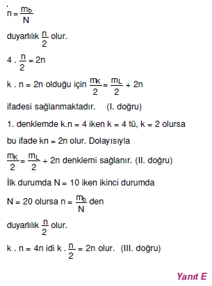 Madde ve Özellikleri çözümler 1003-1