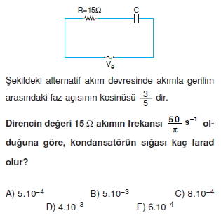 İndüksiyon ve Alternatif Akım test 1003
