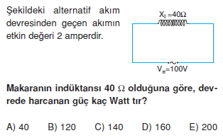 İndüksiyon ve Alternatif Akım test 1006
