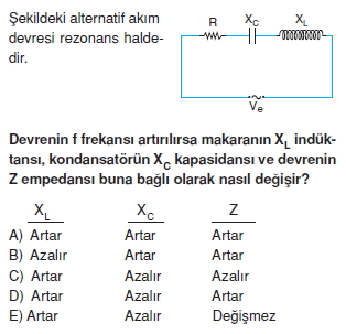 İndüksiyon ve Alternatif Akım test 1007