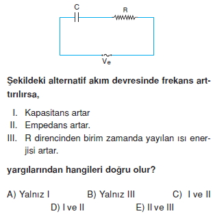 İndüksiyon ve Alternatif Akım test 1008
