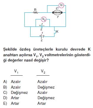 Elektrik Akımı test 2009