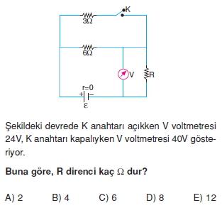 Elektrik Akımı test 2011