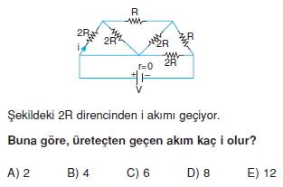 Elektrik Akımı çözümlü test 2003