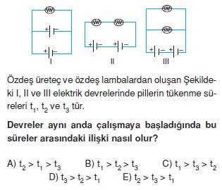 Elektrik Akımı çözümlü test 2008
