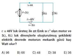 Elektrik Akımı çözümlü test 2012