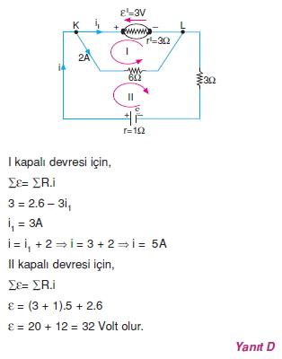 Elektrik Akımı çözümler 2011