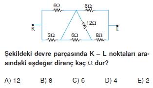 Elektrik Akımı test 1001