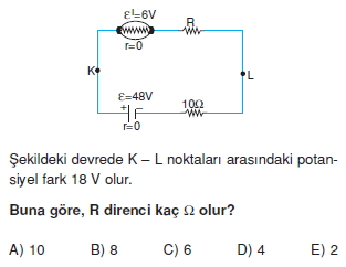 Elektrik Akımı test 1011