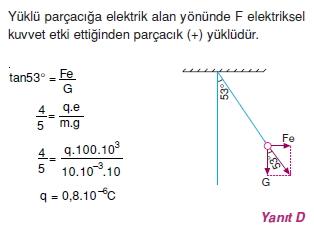 Elektriksel Alan ve Kondansatör çözümler 1002