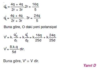 Elektriksel Alan ve Kondansatör çözümler 1003-1