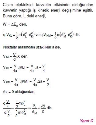 Elektriksel Alan ve Kondansatör çözümler 1007