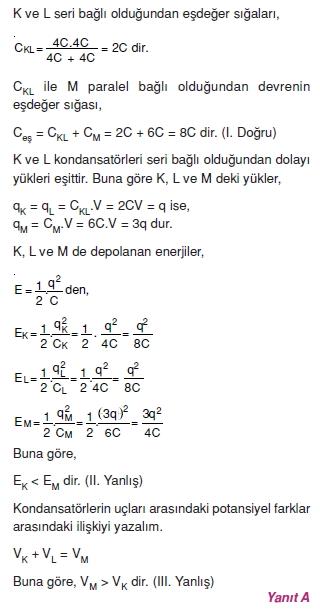 Elektriksel Alan ve Kondansatör çözümler 1008