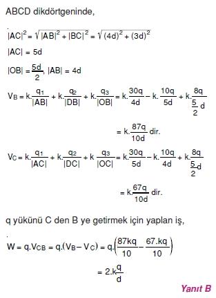 Elektriksel Alan ve Kondansatör çözümler 1005
