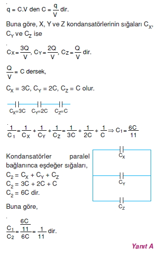 Elektriksel Alan ve Kondansatör çözümler 1006