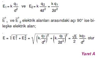 Elektriksel Alan ve Kondansatör çözümler 2005-1