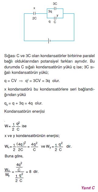 Elektriksel Alan ve Kondansatör çözümler 2008