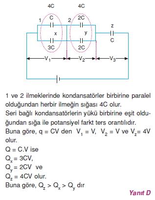 Elektriksel Alan ve Kondansatör çözümler 2009