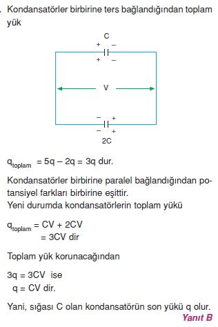 Elektriksel Alan ve Kondansatör çözümler 2011