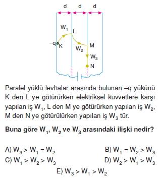 Elektriksel Alan ve Kondansatör test 1007