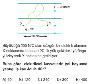 Elektriksel Alan ve Kondansatör test 1008