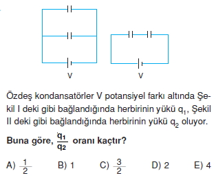 Elektriksel Alan ve Kondansatör test 1011