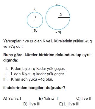 Elektrostatik çözümlü test 1003