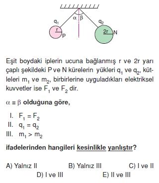 Elektrostatik çözümlü test 1007