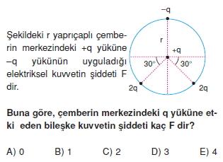 Elektrostatik çözümlü test 1008