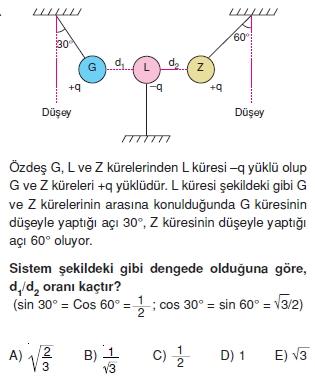 Elektrostatik çözümlü test 1010