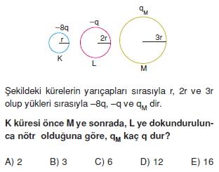 Elektrostatik çözümlü test 2004