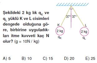Elektrostatik çözümlü test 2011