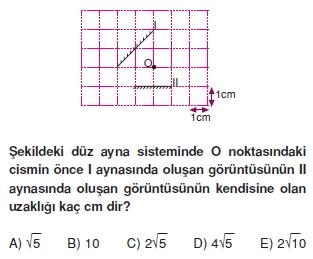 Işık Bilgisi çözümlü test 1004