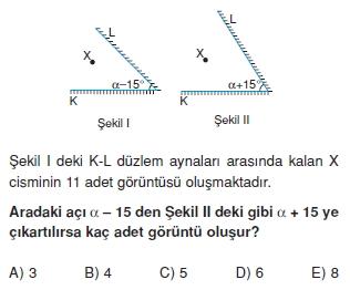 Işık Bilgisi çözümlü test 1011