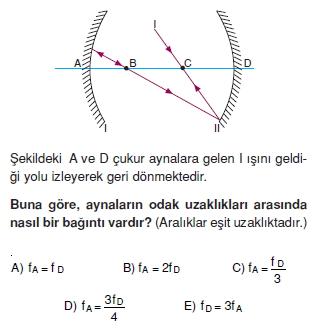 Işık Bilgisi çözümlü test 2006