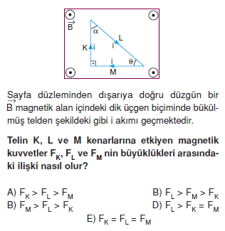 Magnetizma çözümlü test 1005