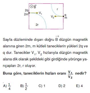 Magnetizma çözümlü test 1006