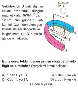 Magnetizma çözümlü test 1010