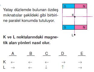 Magnetizma çözümlü test 1011