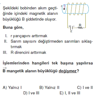 Magnetizma çözümlü test 1012