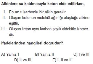 Aldehitveketonlarcözümlütest2012