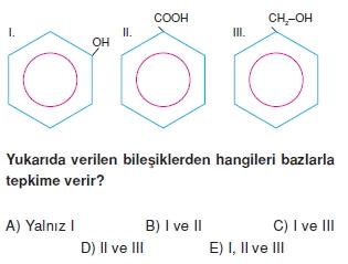 Karbonhidratlarazottürevlerivearomatikbilesiklericözümlütest2010