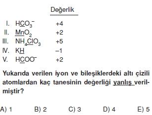 Kimyasalbaglarvebilesiklercözümlütest1011