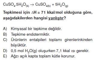Kimyasaltepkimelerdeenerjikonutesti2001